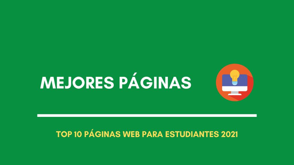 Mejores páginas web para estudiantes 2021