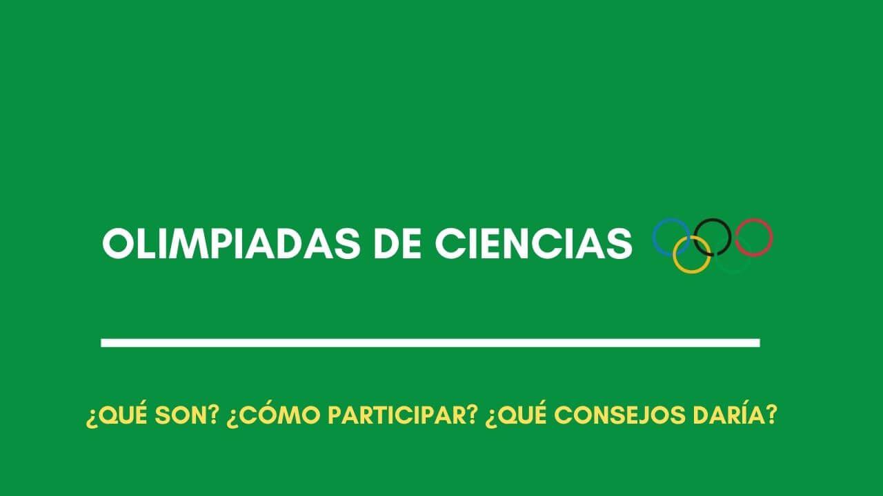 olimpiadas de ciencias